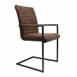 Furnwise Sedia da Pranzo Industriale Bars Vintage Design Brown