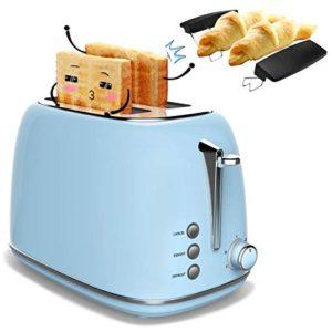 Tostapane 2 fette Professionale con griglia Morpilot tostapane in acciaio inox con 2 slot automatici large 6 modalit di tostatura con funzioni di sbrinamento vassoio raccoglibriciole rimovibile