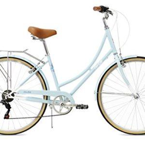 FabricBike Step City Bicicletta Vintage da Donna Retro Citybike 7 Velocit Ruota da 28 Sky Blue