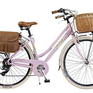 Via Veneto by Canellini Bicicletta Bici Citybike CTB Donna Vintage Retro Via Veneto Alluminio Rosa Taglia 46