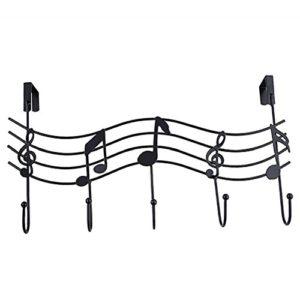 Dragonaur vintage Music note metallo gancio appendiabiti cappello bag organizer Holder Wall Decor