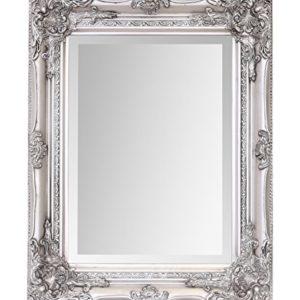 Select Mirrors Specchio Rhone Vintage francese stile barocco antico 42 cm x 53 cm decoro chic raffinato per la casa  Antique Silver 42cm x 53cm