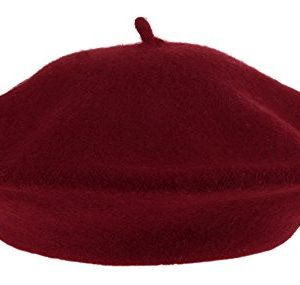 EOZYVintage Baschi Berretti Ragazza Cappello da Donna Stile Francese Rosso