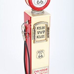 PointHome  Mobiletto Porta CD Aspetto retr a Forma di Pompa di Benzina con Luce