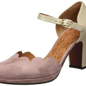 Chie Mihara Sela34 Scarpe col Tacco Punta Chiusa Donna Rosa Ante Shina Gold Vintage 38 EU