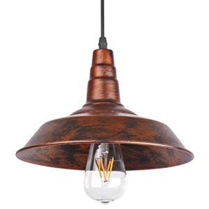 Sunsbell industriale Retro Loft parete Coffee Bar Illuminazione Fixtrure Sconce sospensione Lampada da soffitto lampadari Shades per E27 Edison Bulbi Brown la lampadina non  inclusa