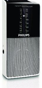 Philips AE153000 Radio Portatile Sintonizzatore Stereo Analogico FMMW Jack per Cuffia Funzionamento a batteria NeroArgento