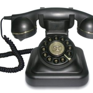 Brondi Vintage 20  Telefono analogico con filo in un elegante design retr con dettagli dorati