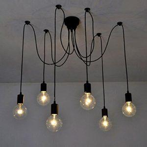 Lixada  base lampadine lampadario pendente 6 braccia