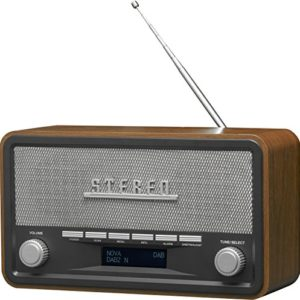 Denver DAB18  Radio analogica e digitale DAB FM Bluetooth Altoparlanti da 4 W Schermo LCD Nero Legno