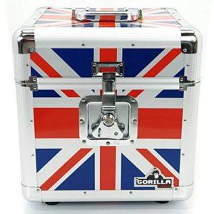 Gorilla 305cm LP vinyl record Storage box Flight Carry case holds 100pcs Union Jackcon garanzia a vita