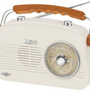AEG Nr 4155portatile Radio FMAM retr AUXIN crema