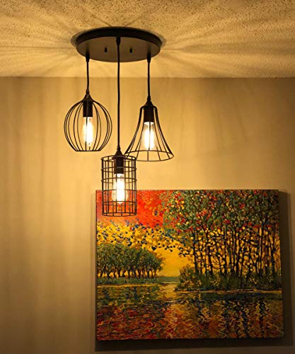 Regolabile In Altezza Motivo Sky-Garden Design Lampada Da Soffitto For Soggiorno Sala Da Pranzo Tavolino LLAN Lampada A Sospensione Moderna E27 Lampada A Sospensione Industriale In Resina E Metallo